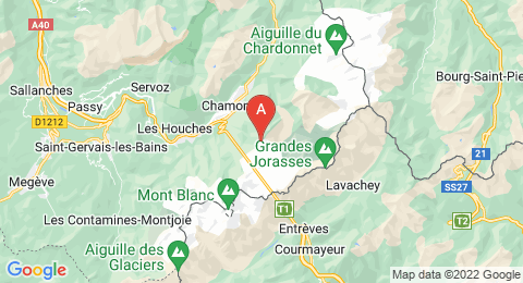 map of Aiguille du Plan (France)